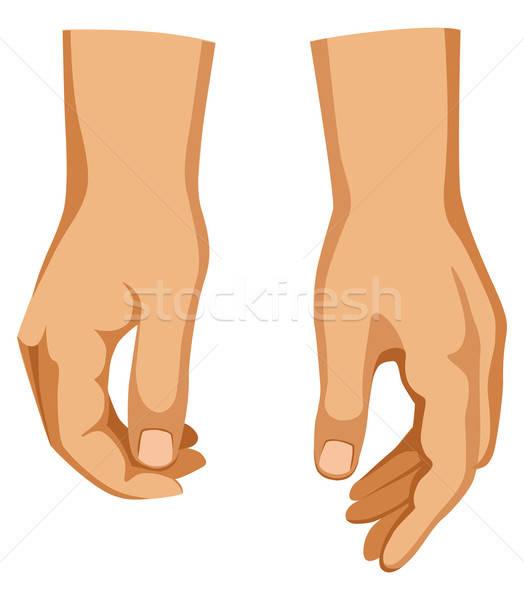 Twee man handen verschillend posities geïsoleerd Stockfoto © arlatis