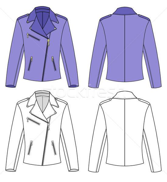 Ceket kadın yalıtılmış çizim tekstil stil Stok fotoğraf © arlatis