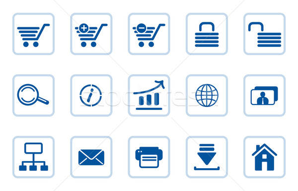 Set of e-commerce icons  Stock photo © arlatis