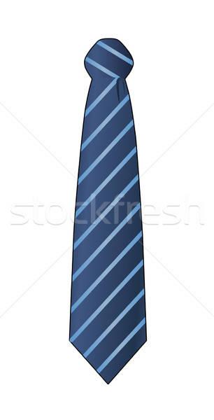 ネクタイ 孤立した 白 青 ストックフォト © arlatis