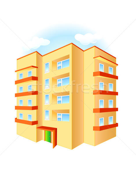 Budynku biały miasta budowy projektu domu Zdjęcia stock © arlatis