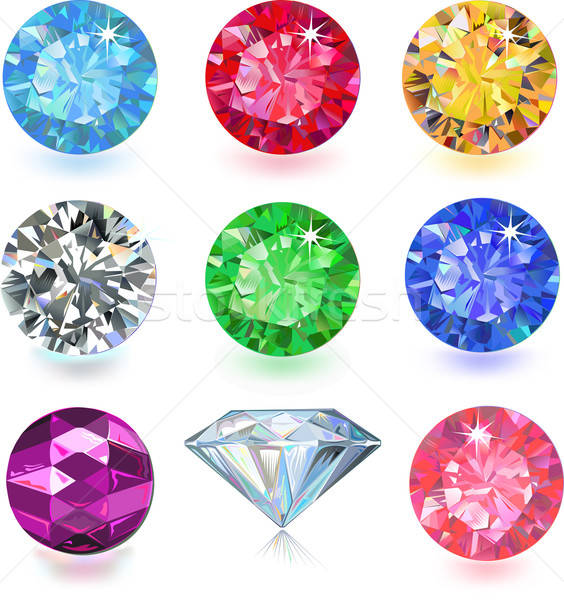 Colored gems Stock photo © arlatis