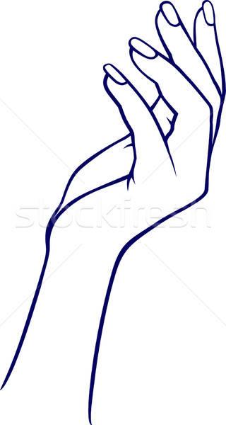 Раскраска рука девушки