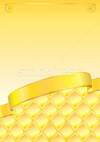 Gouden boeg gelukkig verjaardag achtergrond kaart Stockfoto © arlatis