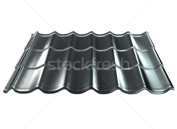 タイル 屋根 孤立した 白 金属 ビルド ストックフォト © arlatis