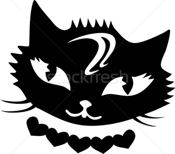 Fantastisch Herzen Tier Shirt Grafik Stock foto © arlatis