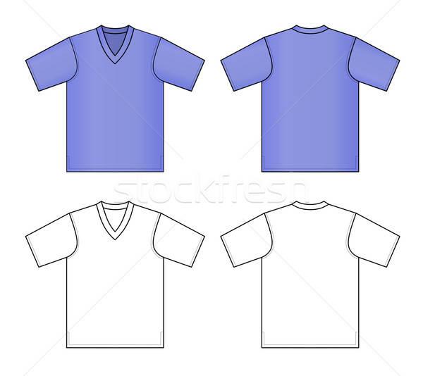 Zdjęcia stock: Tshirt · kobieta · projektu · mężczyzn · czarny · ubrania