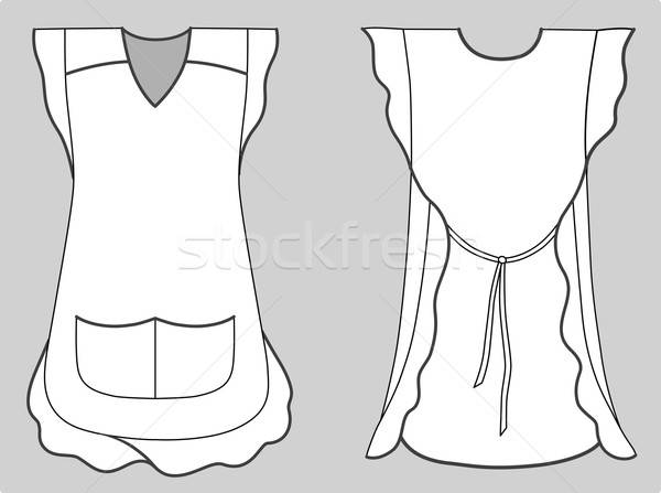 Woman apron with frills and pockets  Stock photo © arlatis