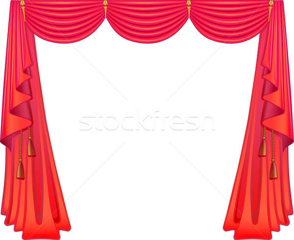 Scarlet curtains  Stock photo © arlatis