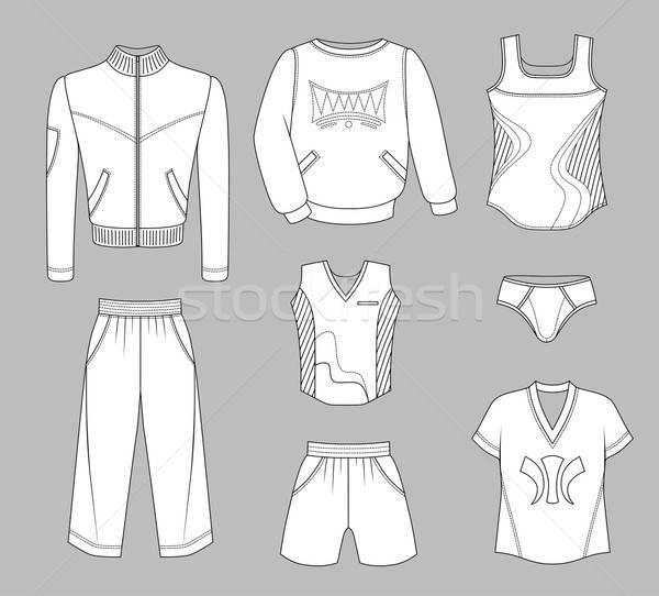 Man set tricot clothes Stock photo © arlatis