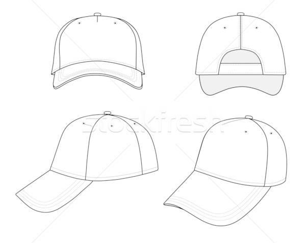 Baseballsapka izolált fehér terv sportok baseball Stock fotó © arlatis