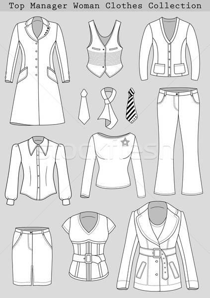 Topo gerente mulher roupa coleção roupa Foto stock © arlatis