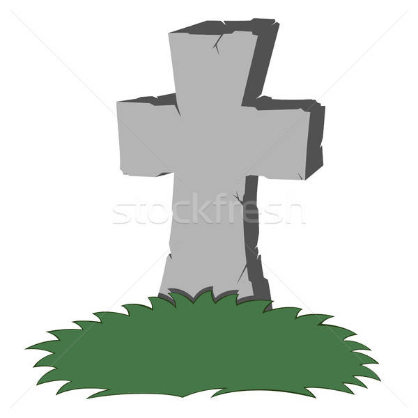 Spooky tombstone Stock photo © arleevector