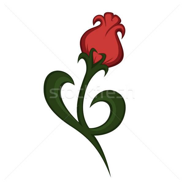 Fiore arte bella illustrazione amore foglia Foto d'archivio © arleevector