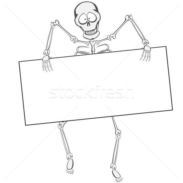 Esqueleto engraçado caminhada como zumbi Foto stock © arleevector