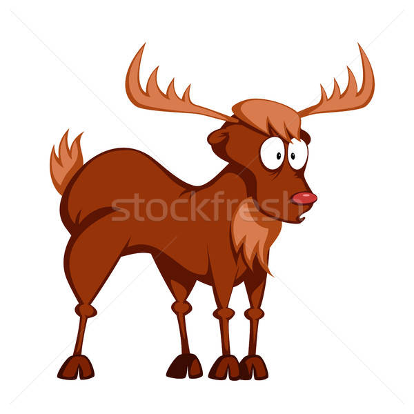 Funny reindeer Stock photo © arleevector