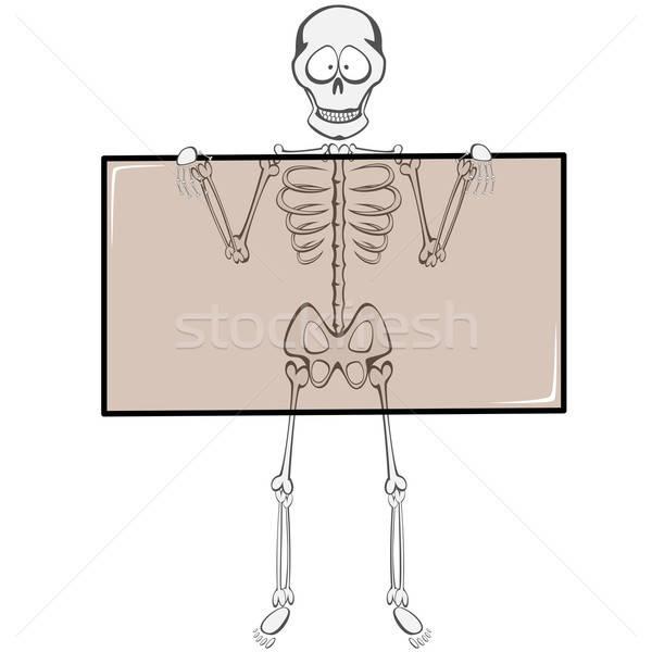 Csontváz haver vicces kabala tart röntgen Stock fotó © arleevector