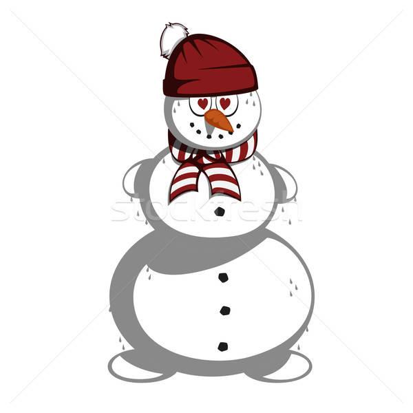 Mr snowman Stock photo © arleevector