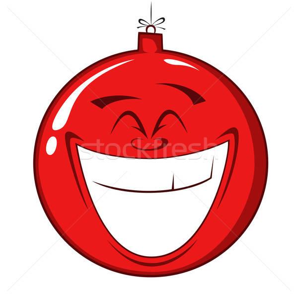 Felice Natale decorazioni palla vetro Foto d'archivio © arleevector