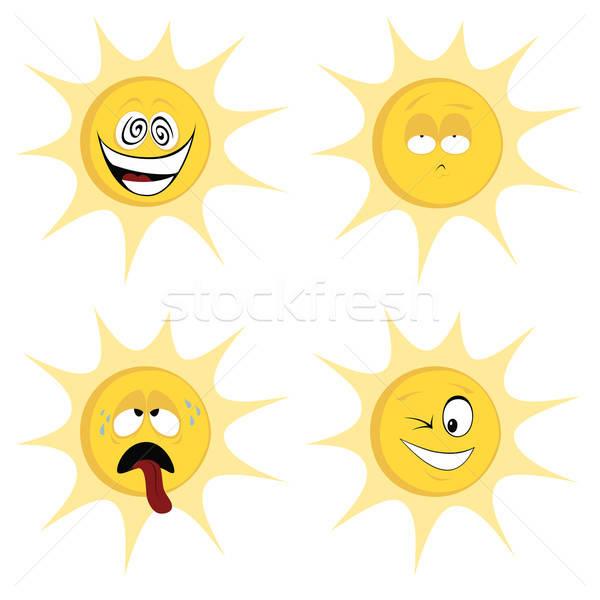 Summer sun mascots Stock photo © arleevector