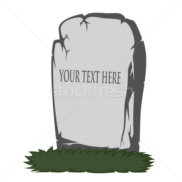 Spooky tombstone Stock photo © arleevector
