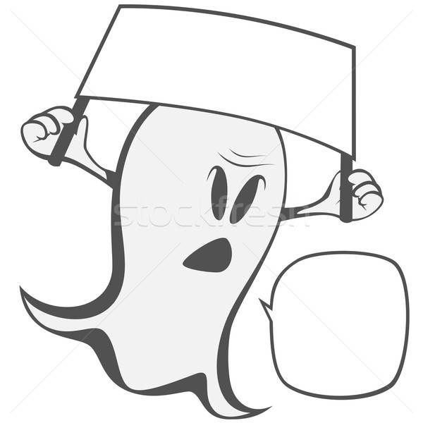 Funny freaky ghost Stock photo © arleevector