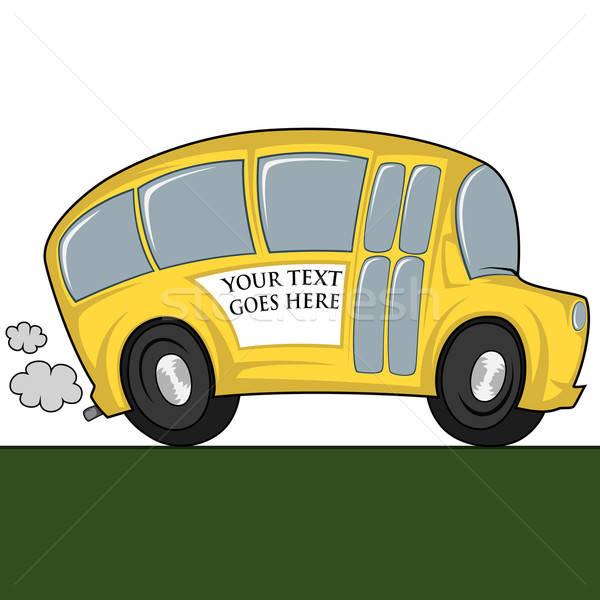 Cool bus divertente illustrazione scuolabus può Foto d'archivio © arleevector
