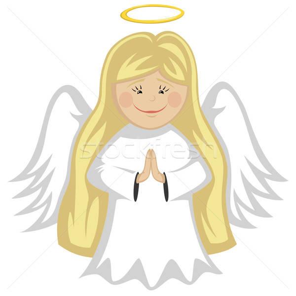 かわいい 天使 ブロンド 天使 祈っ ストックフォト © arleevector