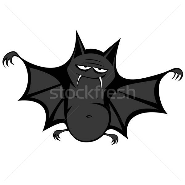 Divertente bat grande nero grasso sorridere Foto d'archivio © arleevector