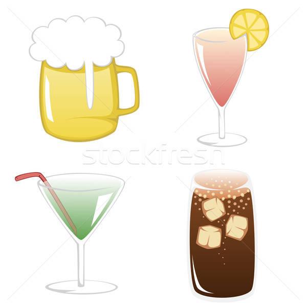 Foto stock: Verano · bebidas · simple · ilustración · colorido · popular