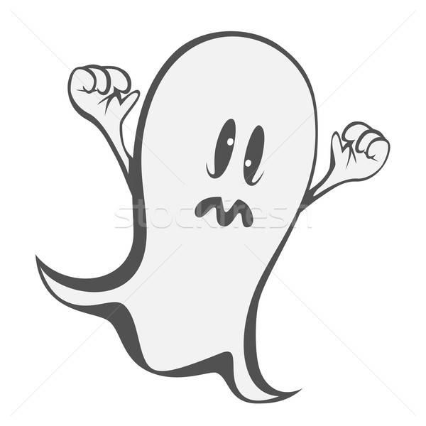 Funny fantasma loco ojos noche volar Foto stock © arleevector