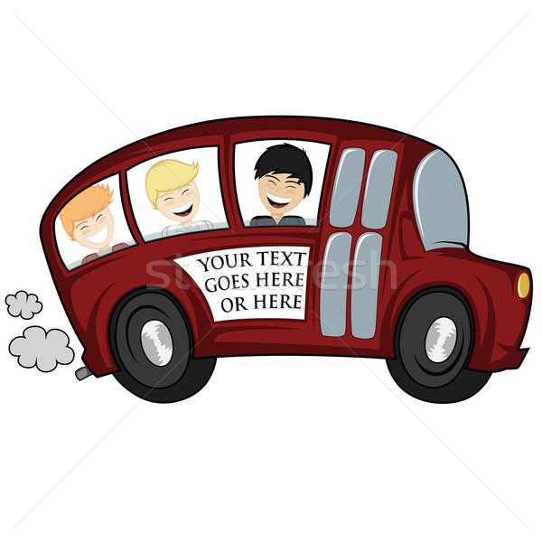 Cool bus divertente illustrazione scuolabus bambini Foto d'archivio © arleevector