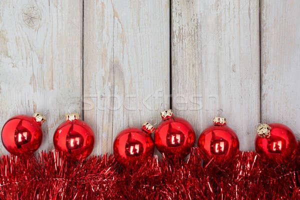 Rosso Natale albero ghirlanda legno Foto d'archivio © armin_burkhardt