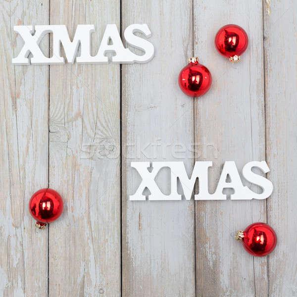 クリスマス 白 木材 ビジネス インターネット 幸せ ストックフォト © armin_burkhardt