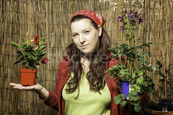 Woman gardening - Decision Stock photo © armin_burkhardt