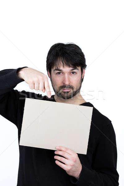 ストックフォト: 男 · メッセージ · シンボリック · 画像