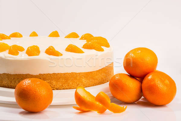 Yaz kek peynir krem ışık meyve Stok fotoğraf © armin_burkhardt