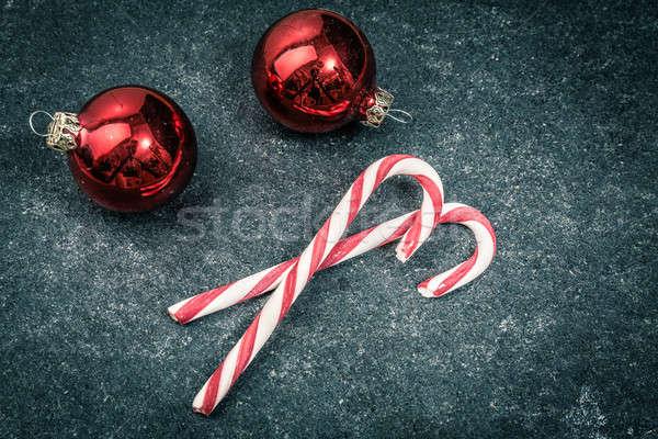 christmas vintage candys Stock photo © armin_burkhardt