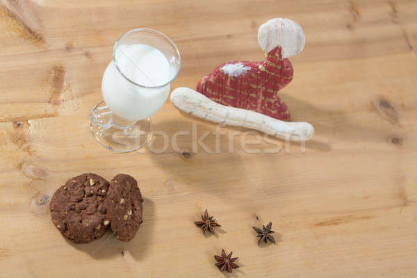 準備 サンタクロース セット ガラス ミルク クッキー ストックフォト © armin_burkhardt