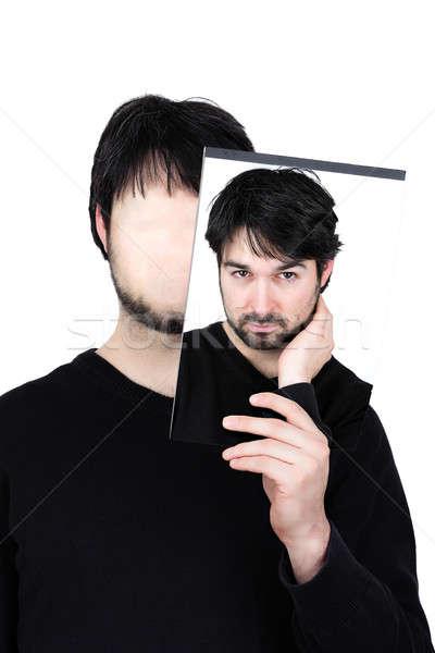 Iki yüzler sembolik görüntü adam Stok fotoğraf © armin_burkhardt