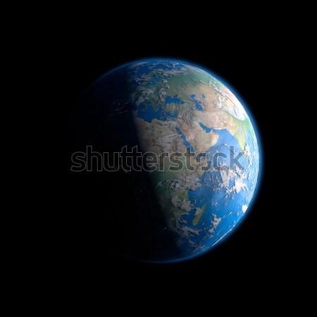 Foto stock: Tierra · espacio · exterior · elementos · imagen · vista · 3D
