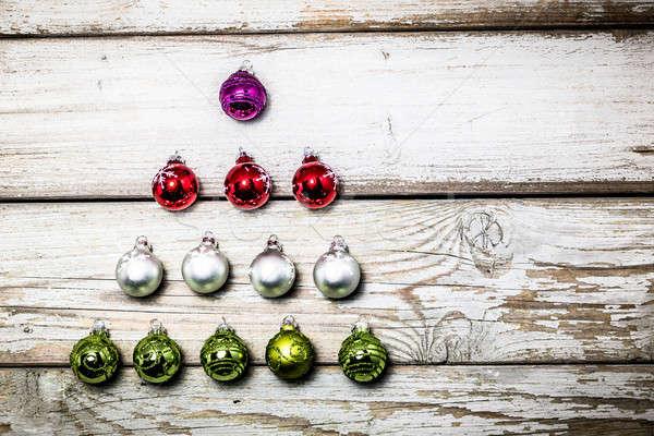 クリスマス フォーム クリスマスツリー 背景 ストックフォト © armin_burkhardt