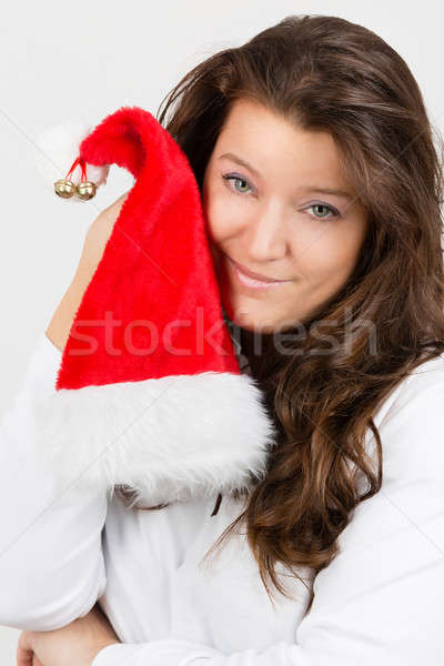 Natale divertimento donna Hat Foto d'archivio © armin_burkhardt