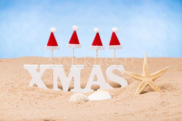 クリスマス 休日 ライブ サンタクロース 砂 ストックフォト © armin_burkhardt
