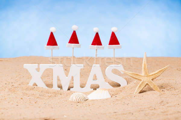 Noel tatil yaşamak kum Stok fotoğraf © armin_burkhardt