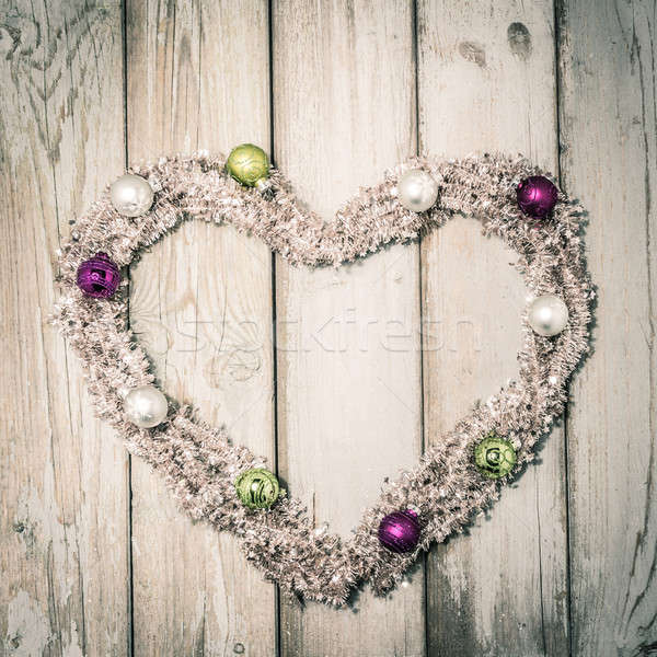 Christmas hart ingericht partij Stockfoto © armin_burkhardt