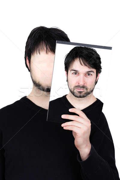 2 顔 濃度 シンボリック 画像 男 ストックフォト © armin_burkhardt