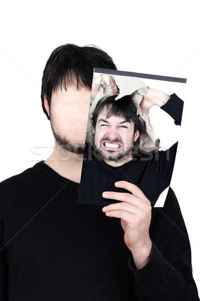 2 顔 外に シンボリック 画像 男 ストックフォト © armin_burkhardt