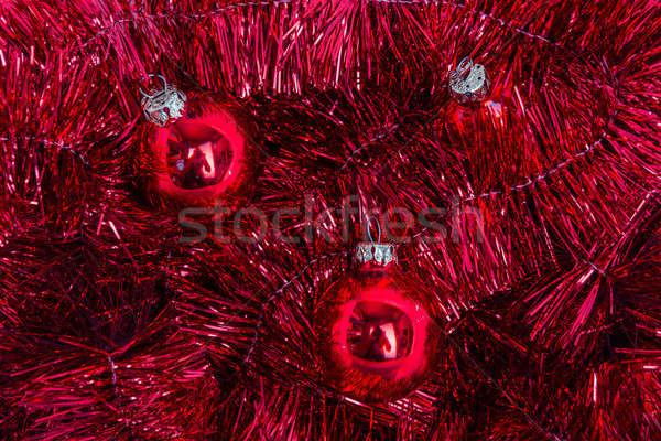 赤 ツリー 花輪 クリスマス ストックフォト © armin_burkhardt