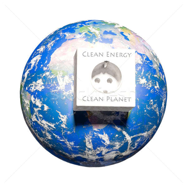 Clean energy - Elements of this image furnished by NASA Stock photo © armin_burkhardt